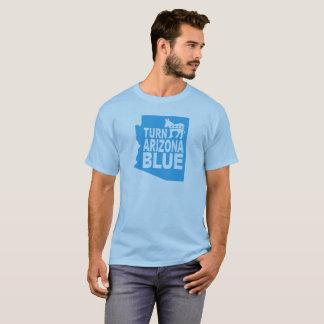 Drehen Sie blauen progressiven Staat Arizonas T - T-Shirt