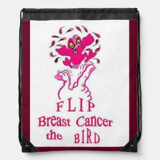 Drehen Sie Brustkrebs der Vogel um Turnbeutel