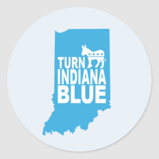 Drehen Sie Indiana, das blaues Aufkleber-Blatt   Runder Aufkleber