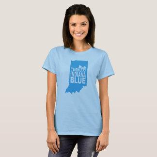 Drehen Sie Progressisten blauer Frauen Indianas T-Shirt