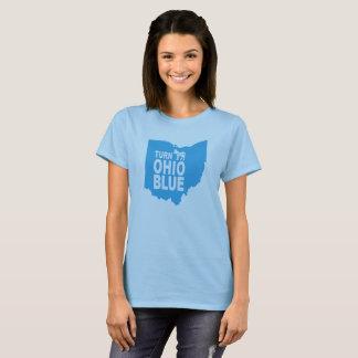 Drehen Sie progressiven Staat blauer Frauen Ohios T-Shirt