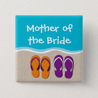 Drehen Sie Reinfall-Hochzeit auf dem Quadratischer Button 5,1 Cm