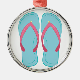 Drehen Sie Reinfall um Silbernes Ornament