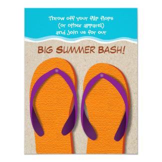 Drehen Sie Reinfälle auf der Strand-Sommer-Party 10,8 X 14 Cm Einladungskarte