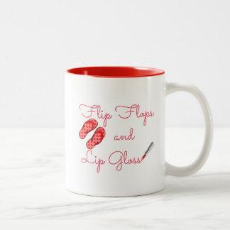 Drehen Sie Reinfälle und Lippenglanz-Tasse um Zweifarbige Tasse