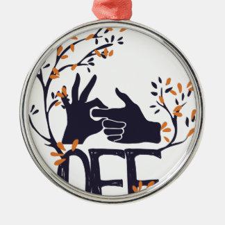 drehen Sie sich wenn weg oder auf vom niedlichen Rundes Silberfarbenes Ornament