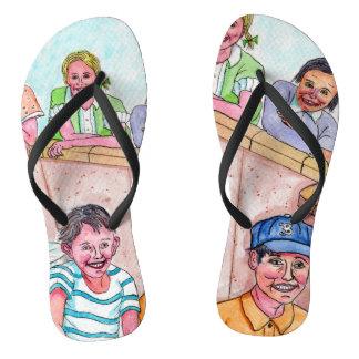 Drehen Sie sie weg um oder plumpsen Sie sie an - Flip Flops