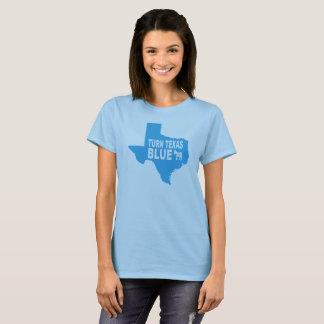Drehen Sie Texas der T - Shirt  , das der blauen