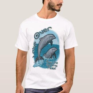 Drehen Sie über Delphin-Shirt um T-Shirt