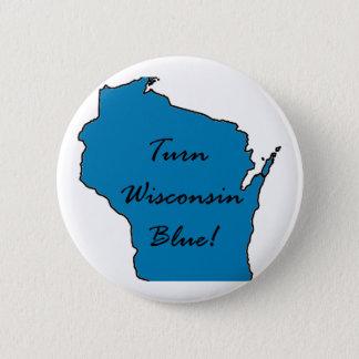 Drehen Sie Wisconsin blau! Demokratischer Stolz! Runder Button 5,1 Cm