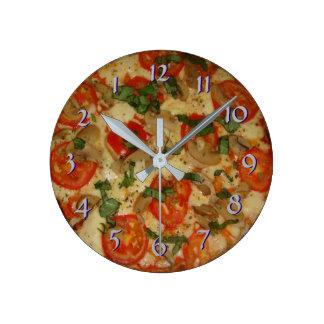 Drehen Sie zurück die Zeit rückwärts Uhr-Pizza Runde Wanduhr