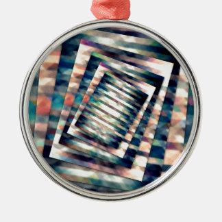 Drehendes Schmutz-Rechteck Silbernes Ornament