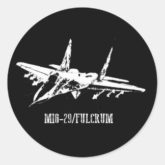 Drehpunktaufkleber der Flugzeug-MiG-29 Runder Aufkleber
