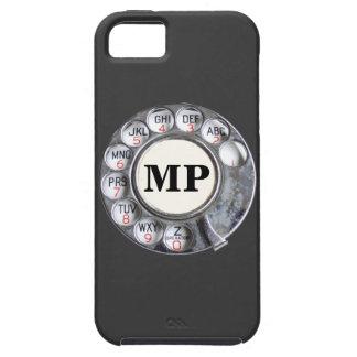 Drehtelefonskala mit Monogramm Etui Fürs iPhone 5