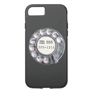 Drehtelefonskala mit Telefonnummer iPhone 8/7 Hülle
