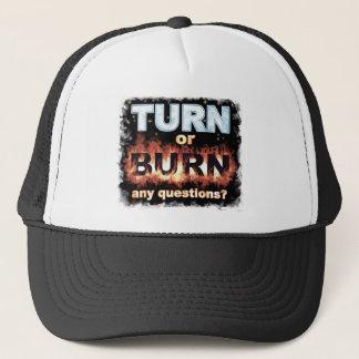 Drehung oder Brand Truckerkappe