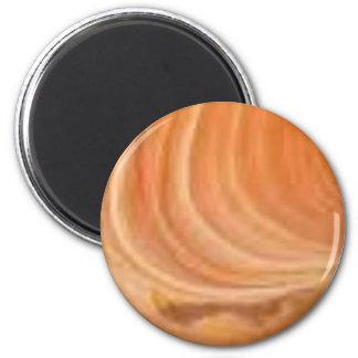 Drehungen im Stein Runder Magnet 5,1 Cm