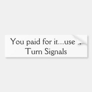 Drehungs-Signal-Autoaufkleber Autoaufkleber
