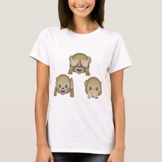 Drei Affe Emoji T-Shirt
