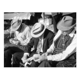 Drei alte Männer Postkarte
