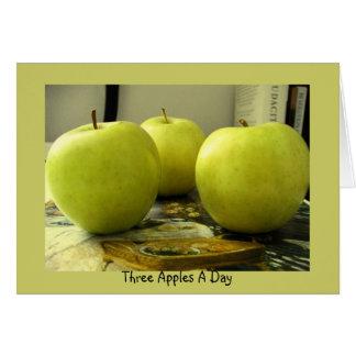 Drei Äpfel ein Tag Karte