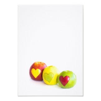 Drei Äpfel Karte