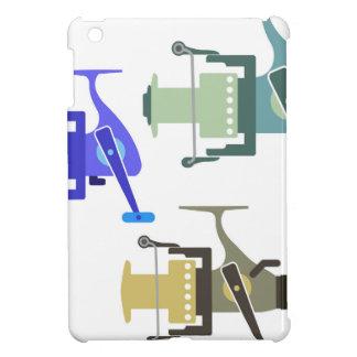 Drei Arten spinnende Spulenvektorillustration Hülle Für iPad Mini