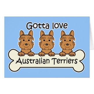 Drei australische Terrier Karte