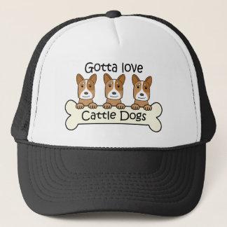Drei australische Vieh-Hunde Truckerkappe