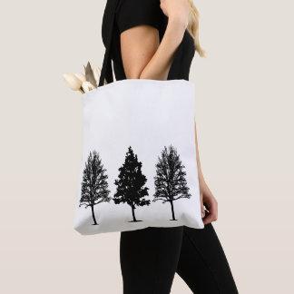 Drei Baum-Tasche Tasche