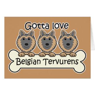Drei Belgier Tervurens Karte
