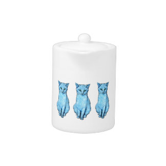 Drei blaue Katzen