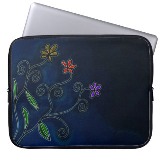 Drei Blumen-Laptop-Hülse Laptopschutzhülle