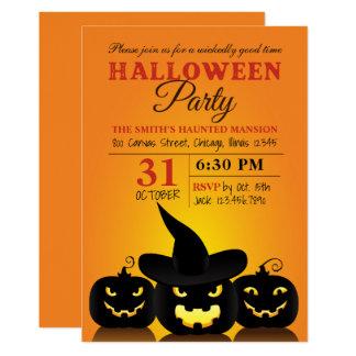 Drei Bu0026#246;se Ku0026#252;rbis Halloween Party