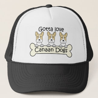 Drei Canaan Hunde Truckerkappe