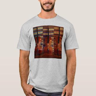 Drei Cellos mit farbigem Licht-T - Shirt