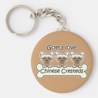 Drei Chinesen Cresteds Schlüsselanhänger