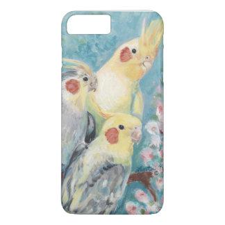 Drei Cockatiels iPhone 8 Plus/7 Plus Hülle