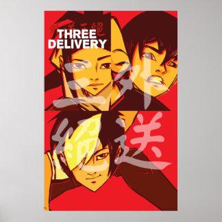 Drei Delivery™ Gruppen-Plakat Poster