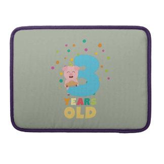 Drei des dritten Geburtstags-Jahre Party-Z9hyc Sleeve Für MacBook Pro
