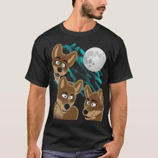 Drei Dingo-Mond T-Shirt