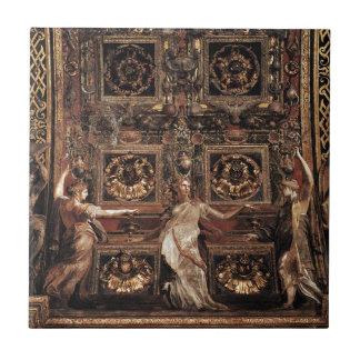 Drei dumme Jungfrauen grenzten Adam und Eve an Keramikfliese