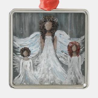 Drei Engel Silbernes Ornament