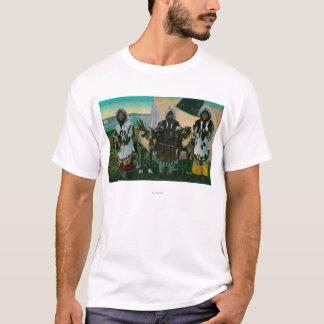 Drei Eskimoschönheiten und Schlitten ReindeerState T-Shirt