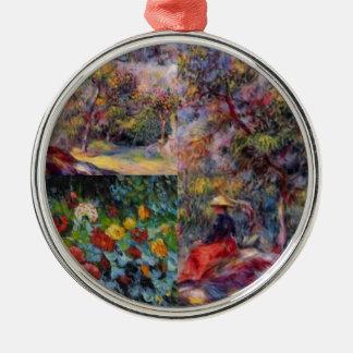Drei fantastische Meisterwerke von Renoirs Kunst Rundes Silberfarbenes Ornament