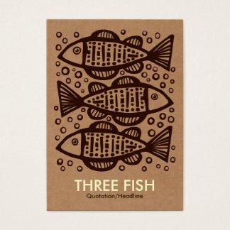 Drei Fische - Sammelpack Tex Visitenkarte