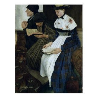 Drei Frauen in Kirche, 1882 Postkarte