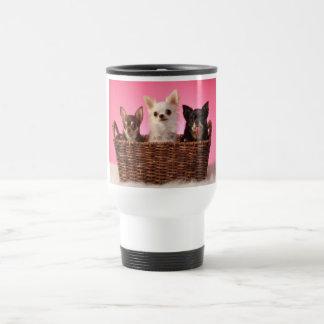 Drei Freund-Chihuahua-Trio Reisebecher