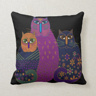 Drei Freund-Kätzchen-Kissen Kissen