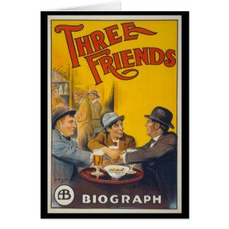 Drei Freunde Grußkarte